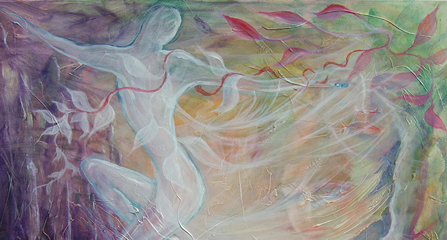 Dance of the soul - Dipinto olio su tela